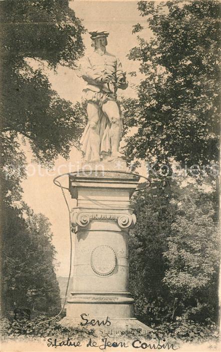 AK / Ansichtskarte Sens_Yonne Statue de Jean Cousin Sens_Yonne 0