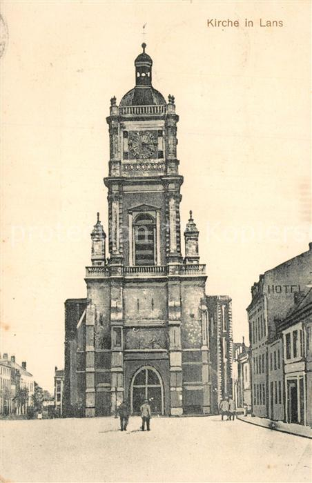 AK / Ansichtskarte Lens_Hainaut Kirche Lens Hainaut 0