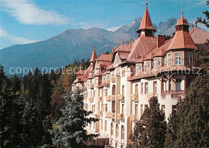 AK / Ansichtskarte Tatranska_Lomnica Grand Hotel Praha Hohe Tatra Tatranska Lomnica 0