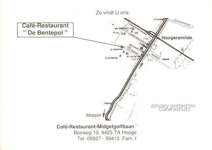 AK / Ansichtskarte Hoogersmilde Cafe Restaurant De Bentepol Midgetgolf Drents Friese Wold Nationalpark Hoogersmilde 1