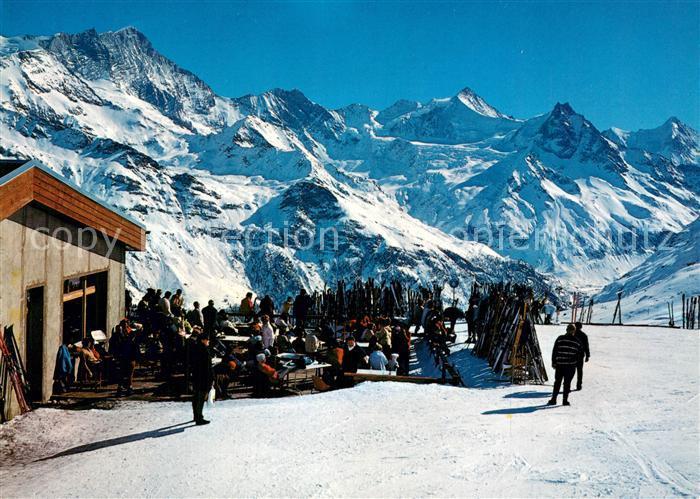 AK / Ansichtskarte Val_d_Anniviers Restaurant de Sorebois sur Sinal Wintersportplatz Franzoesische Alpen Val_d_Anniviers 0