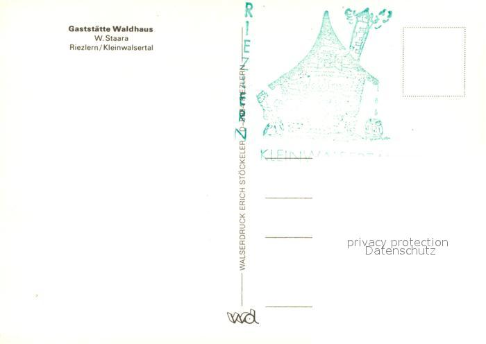 AK / Ansichtskarte Riezlern_Kleinwalsertal_Vorarlberg Gaststaette Waldhaus Riezlern_Kleinwalsertal 1