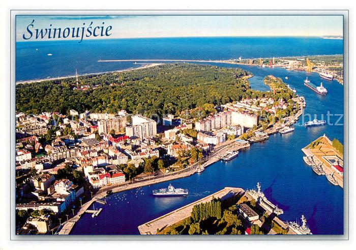 AK / Ansichtskarte Swinoujscie_Swinemuende Fliegeraufnahme Swinoujscie Swinemuende 0
