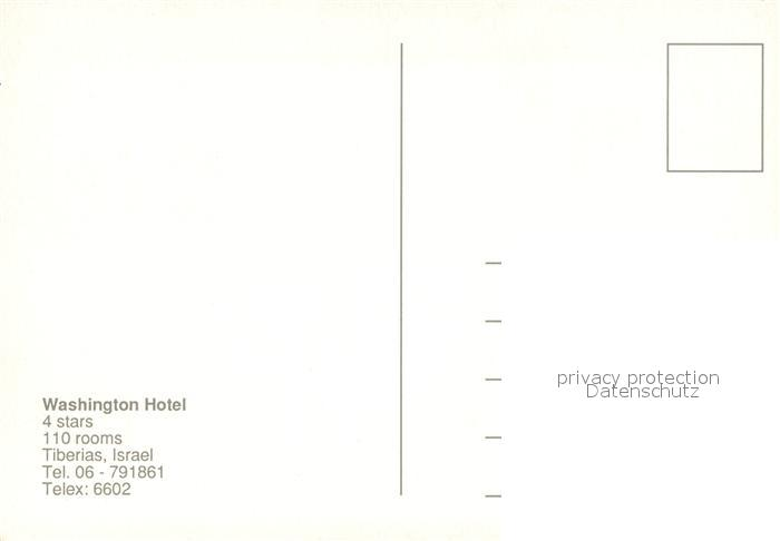 AK / Ansichtskarte Tiberias Washington Hotel Tiberias 1