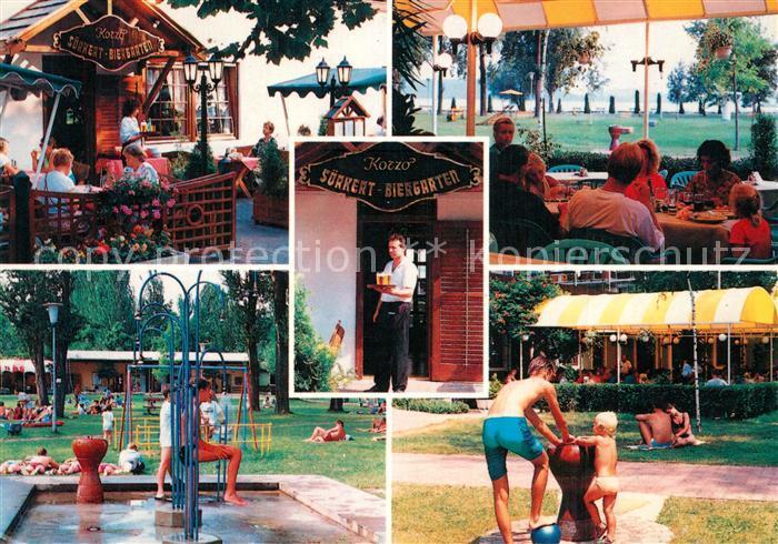 AK / Ansichtskarte Balatonfuered Korzo Soerkert Restaurant Biergarten Balatonfuered 0