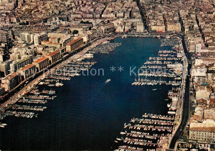 AK / Ansichtskarte Marseille_Bouches du Rhone Vieux Port vue aerienne Marseille 0