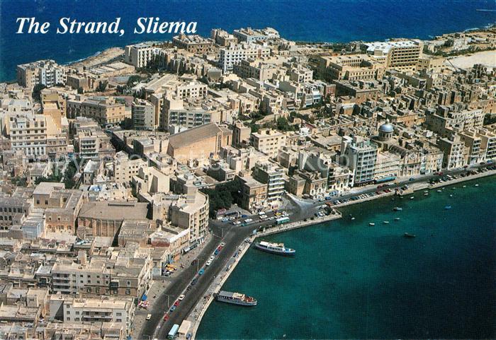 AK / Ansichtskarte Sliema The Strand aerial view Sliema 0