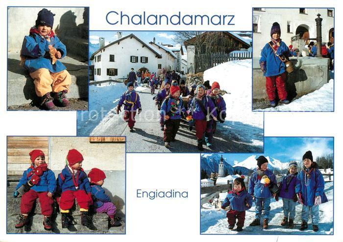 AK / Ansichtskarte Klosters_GR Chalandamarz Fruehlingsbrauch Klosters_GR 0