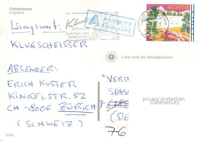 AK / Ansichtskarte Klosters_GR Chalandamarz Fruehlingsbrauch Klosters_GR 1