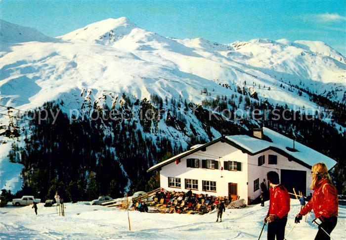 AK / Ansichtskarte Reschen_See_Tirol Schihaus Schoeneben Wintersportplatz Alpen  0