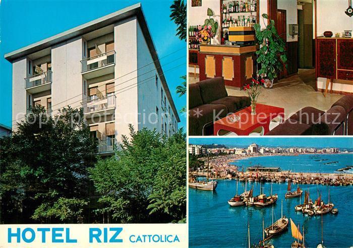 AK / Ansichtskarte Cattolica Hotel Riz Hafen Cattolica 0