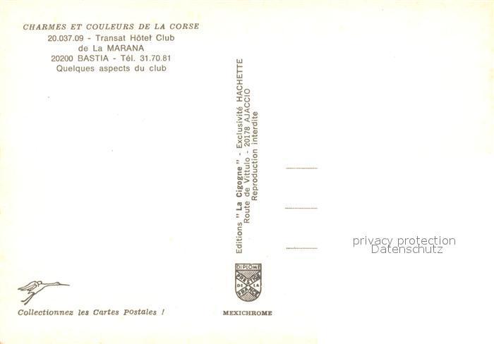AK / Ansichtskarte Bastia Transat Hotel Club Plage Collection Charmes et Couleurs de la Corse Bastia 1