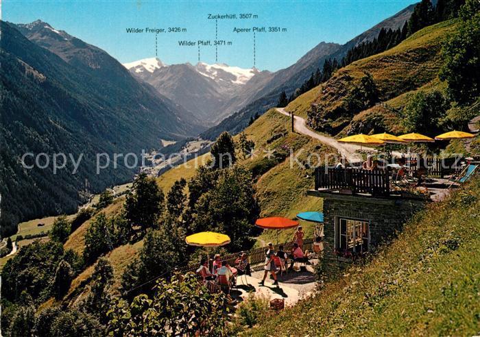 AK / Ansichtskarte Neustift_Stubaital_Tirol Ausflugsziel Jausenstation Kartnall Unterbergtal Stubaier Gletscher Alpen Neustift_Stubaital_Tirol 0