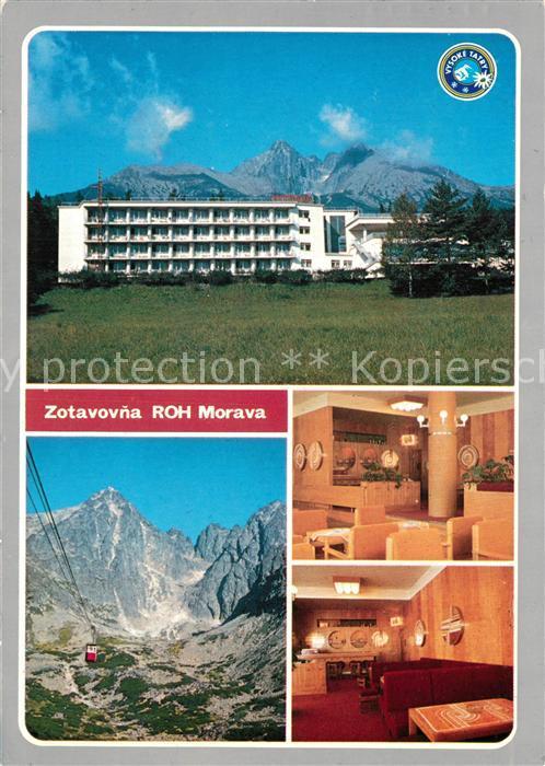 AK / Ansichtskarte Tatranska_Lomnica Zotavovna ROH Morawa Hotel Hohe Tatra Bergbahn Tatranska Lomnica 0