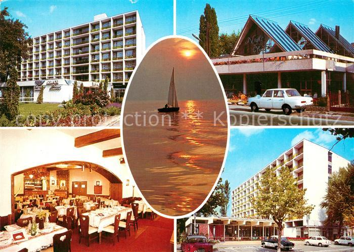 AK / Ansichtskarte Siofok Hotels Night Club am Plattensee Segeln Siofok 0