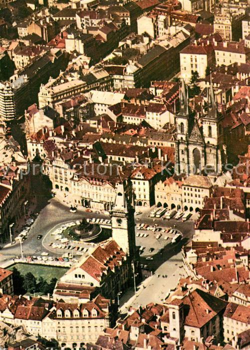 AK / Ansichtskarte Praha_Prahy_Prague Staromestske namesti Altstaedter Ring Fliegeraufnahme Praha_Prahy_Prague 0