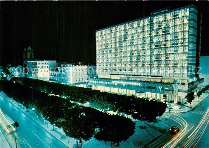 AK / Ansichtskarte Tunis International Tunisia Hotel at night Tunis 0