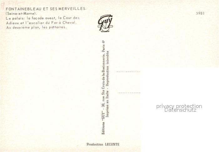 AK / Ansichtskarte Fontainebleau_Seine_et_Marne et ses merveilles Palais Cour des Adieux Escalier du Fer a Cheval vue aerienne Fontainebleau_Seine 1