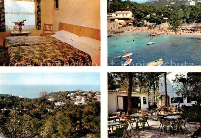 AK / Ansichtskarte Palma_de_Mallorca Villa Ampurdan Restaurant Strand Panorama Palma_de_Mallorca 0
