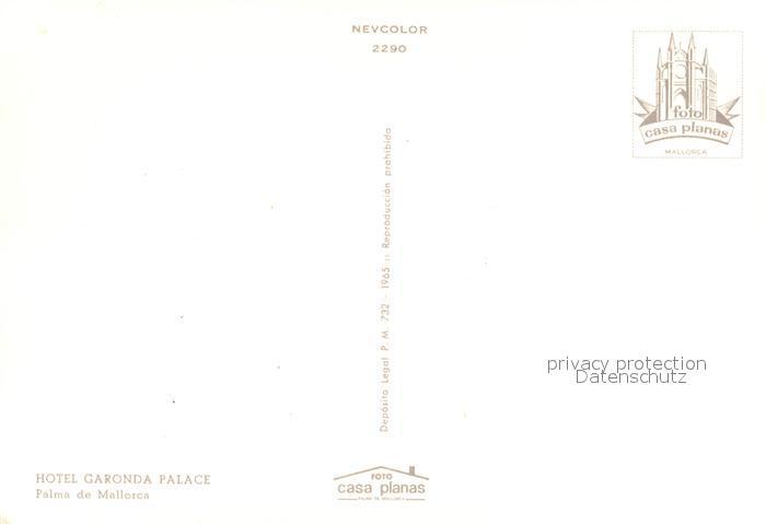 AK / Ansichtskarte Palma_de_Mallorca Hotel Garonda Palace Nachtaufnahme Palma_de_Mallorca 1