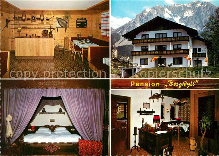AK / Ansichtskarte Ramsau_Dachstein_Steiermark Pension Bergidyll Gastraum Fremdenzimmer Ramsau_Dachstein 0