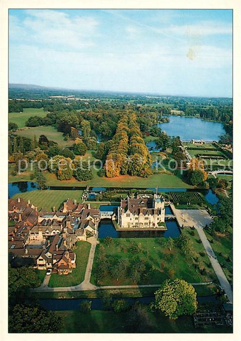 AK / Ansichtskarte Edenbridge_Sevenoaks Hever Castle and Tudor Village Italien gardens lake aerial view  0