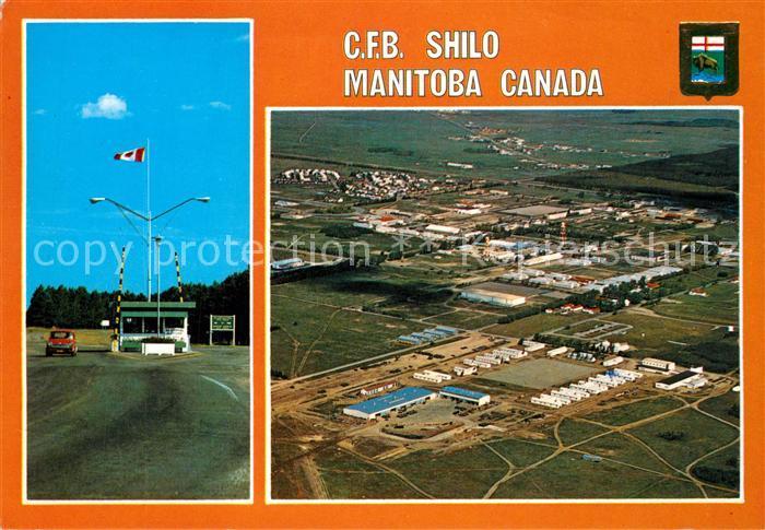 AK / Ansichtskarte Manitoba C.F.B. Shilo Canadian Forces Base aerial view Manitoba 0