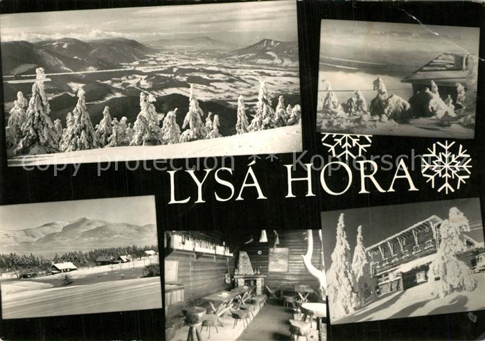 AK / Ansichtskarte Ostravice Lysa Hora Beskiden Talblick Winterlandschaft Berghaus Ostravice 0