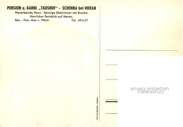 AK / Ansichtskarte Schenna_Meran Pension Garni Taushof Schenna Meran 1