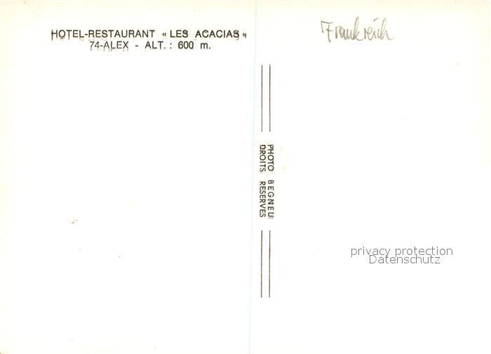 AK / Ansichtskarte Alex_Haute Savoie Hotel Restaurant Les Acacias Alex_Haute Savoie 1