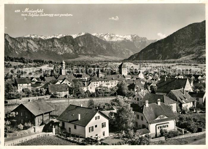 AK / Ansichtskarte Maienfeld Blick von Schlo? Salenegg Maienfeld 0