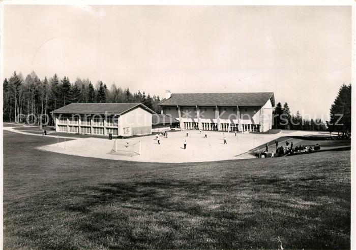 AK / Ansichtskarte Magglingen Sporthalle mit Trockenplatz Magglingen 0