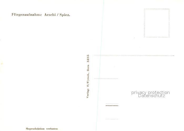 AK / Ansichtskarte Aeschi_BE Fliegeraufnahme Aeschi_BE 1