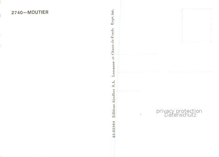AK / Ansichtskarte Moutier Fliegeraufnahme Moutier 1
