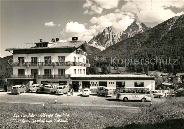 AK / Ansichtskarte San_Candido_Innichen Albergo Capriolo  0