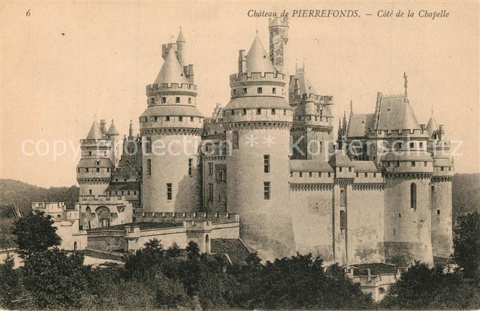 AK / Ansichtskarte Pierrefonds_Oise Chateau Cote de la Chapelle Pierrefonds Oise 0