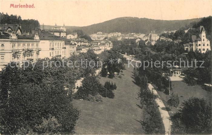 AK / Ansichtskarte Marienbad_Tschechien_Boehmen Panorama Marienbad_Tschechien 0