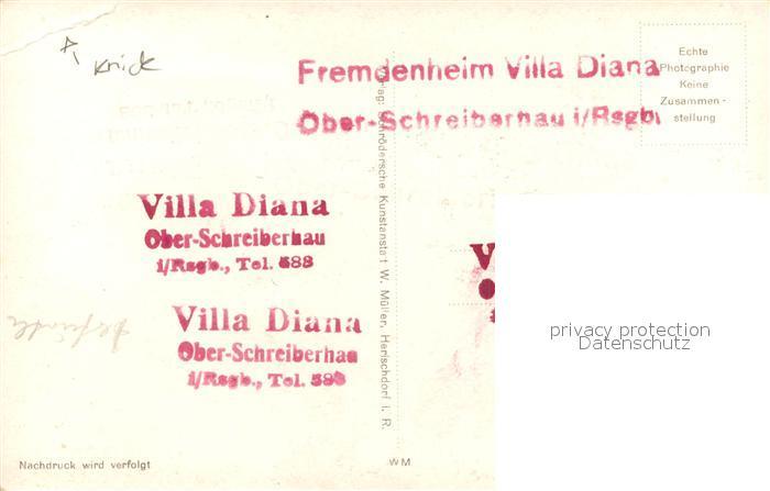 AK / Ansichtskarte Ober Schreiberhau Fremdenheim Villa Diana Ober Schreiberhau 1