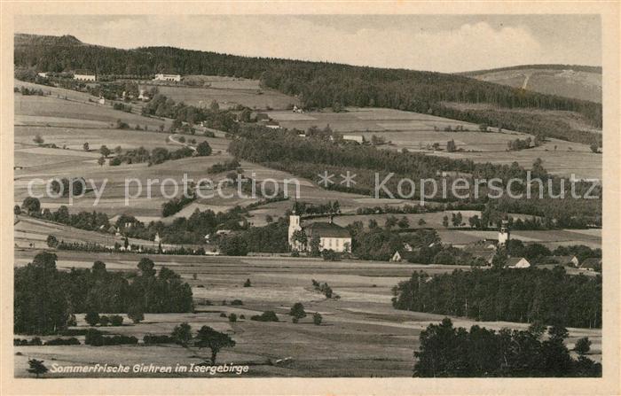 AK / Ansichtskarte Giehren_Isergebirge Panorama Giehren Isergebirge 0