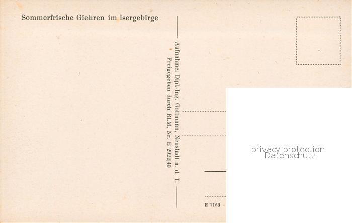 AK / Ansichtskarte Giehren_Isergebirge Panorama Giehren Isergebirge 1