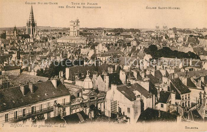 AK / Ansichtskarte Dijon_Cote_d_Or Eglise Notre Dame Tour du Palais  Dijon_Cote_d_Or 0