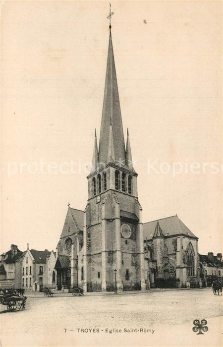 AK / Ansichtskarte Troyes_Aube Eglise Sint Remy Troyes Aube 0