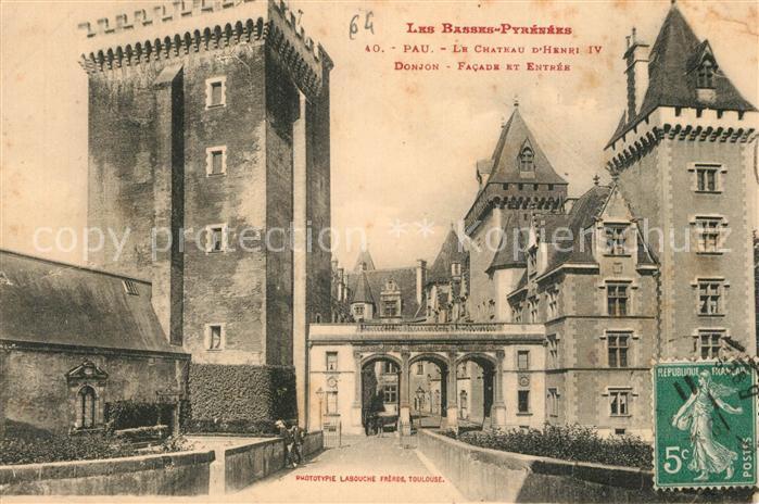 AK / Ansichtskarte Pau Chateau Henri IV Pau 0