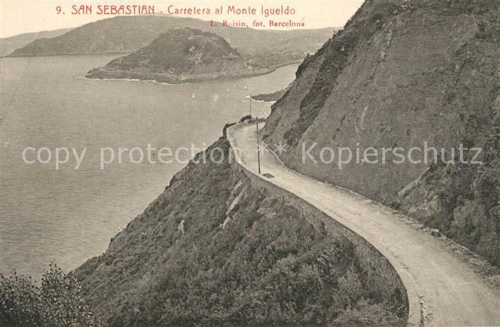 AK / Ansichtskarte San_Sebastian_Guipuzcoa Cerretera al Monte Igueldo San_Sebastian_Guipuzcoa 0