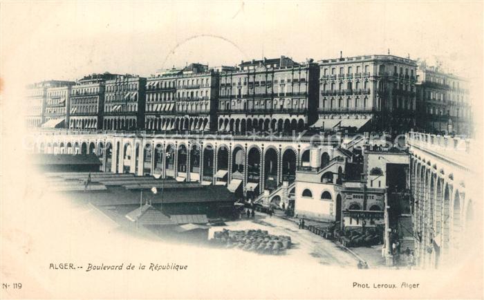 AK / Ansichtskarte Alger_Algerien Boulevard d la Republique Alger Algerien 0