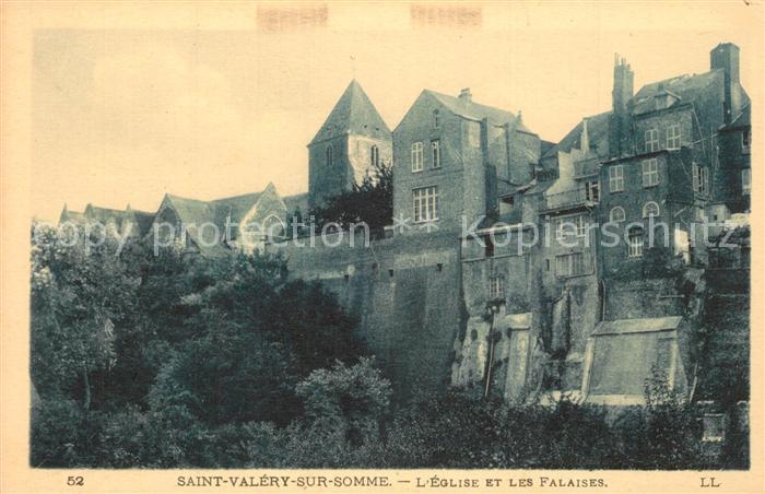 AK / Ansichtskarte Saint Valery sur Somme Eglise Les Falaises Saint Valery sur Somme