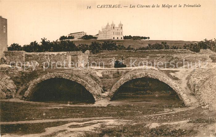 AK / Ansichtskarte Carthage_Karthago Les Citernes de la Malga Primatiale Carthage Karthago