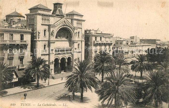 AK / Ansichtskarte Tunis Cathedrale Tunis 0