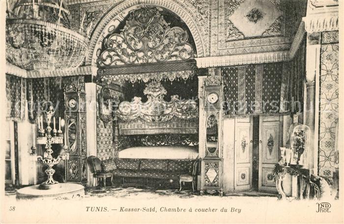 AK / Ansichtskarte Tunis Kassar Said Chambre coucher du Bey Tunis Nr ...