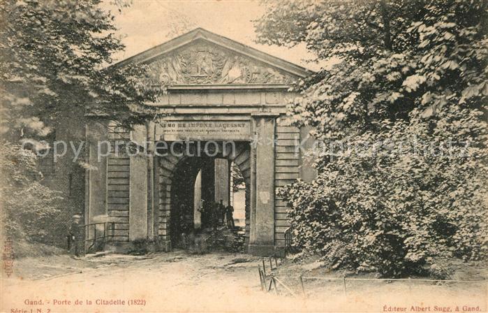 AK / Ansichtskarte Gand_Belgien Porte de la Citadelle Gand Belgien 0